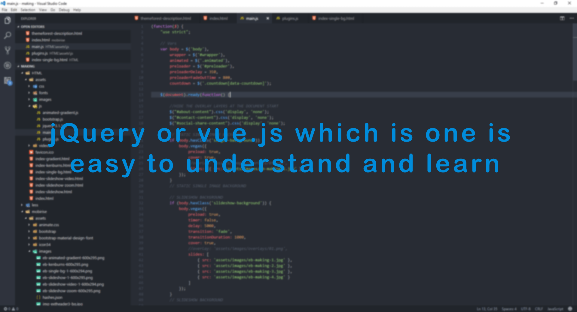 jQuery or vue.js which is one is easy to understand and learn