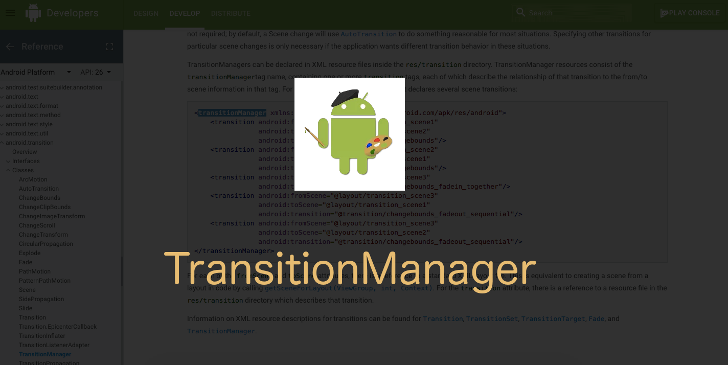 Android TransitionManager