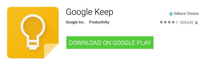 Android Google Keep