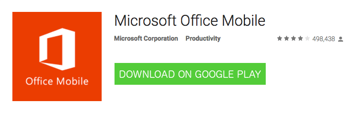 Android Microsoft Office Mobile