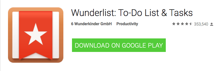 Android Wunderlist