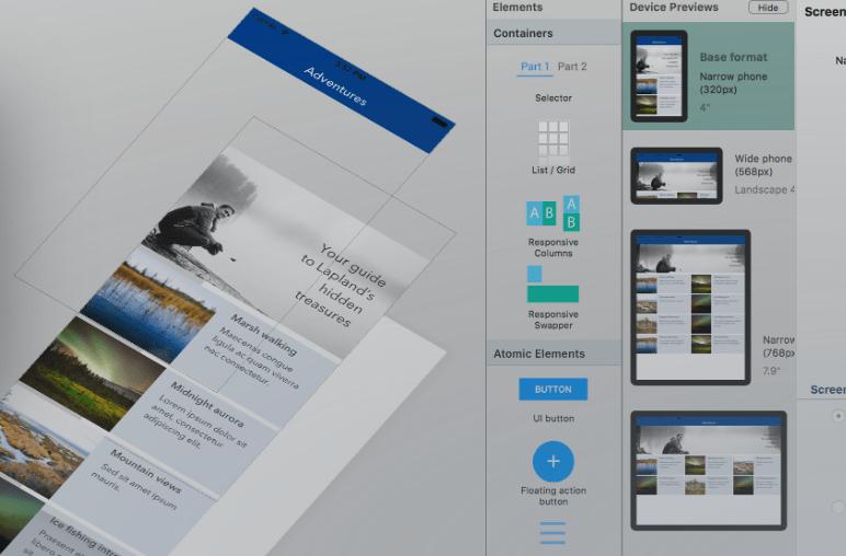 React Studio Premium App Design Tool