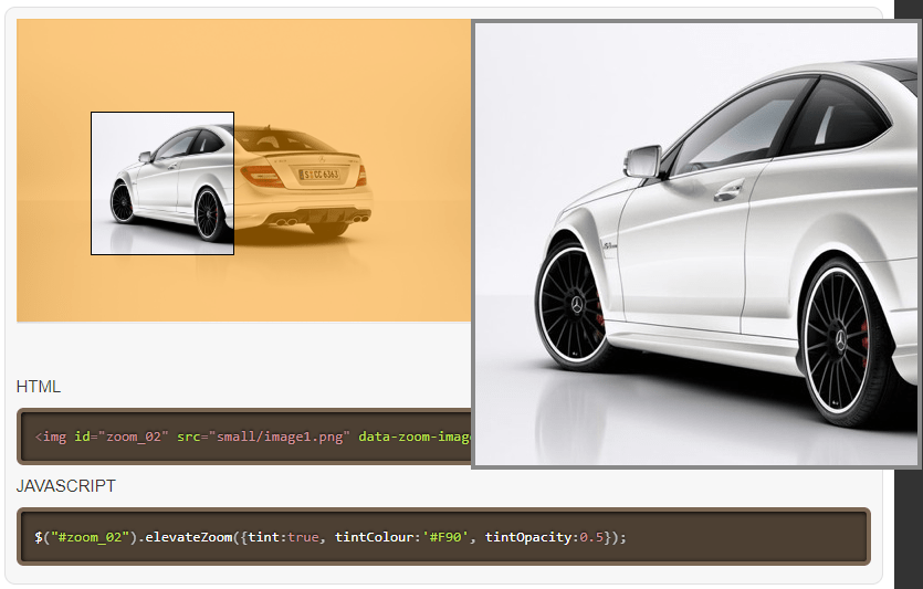 Javascript Image Zoom