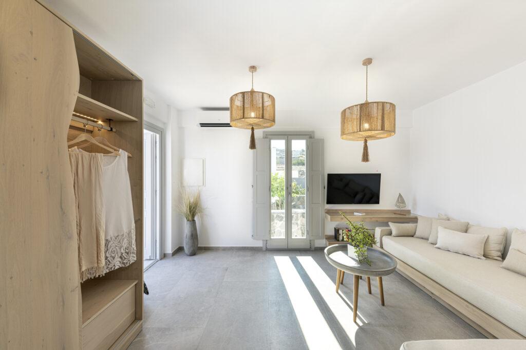 Alafropetra Luxury Suites - Suite 4 -Sitting area - homeoffice