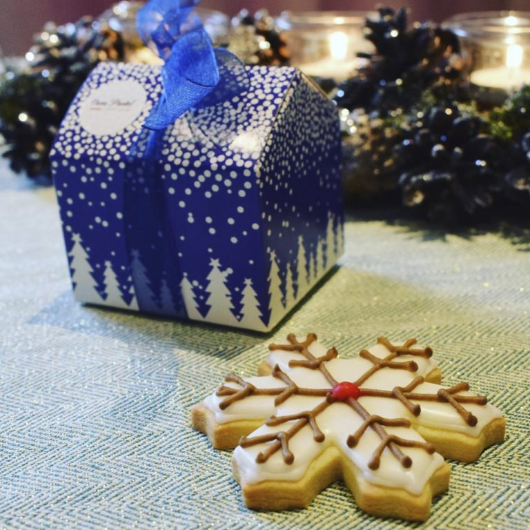 BOXED HAND ICED CHRISTMAS MOTIFS