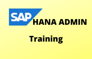 HANA Admin Online Training