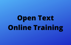 Open Text Online Training