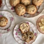 A plate of warm Anything Goes Fruit Muffins