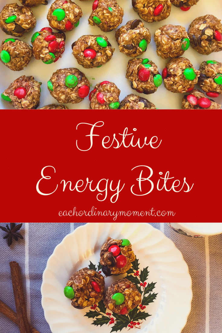 Picture of a plate of festive energy bites
