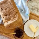 Warm Bread with butter and jam