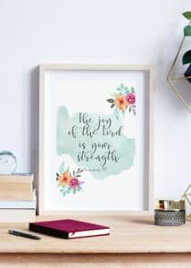 Strong in the Lord Free printable