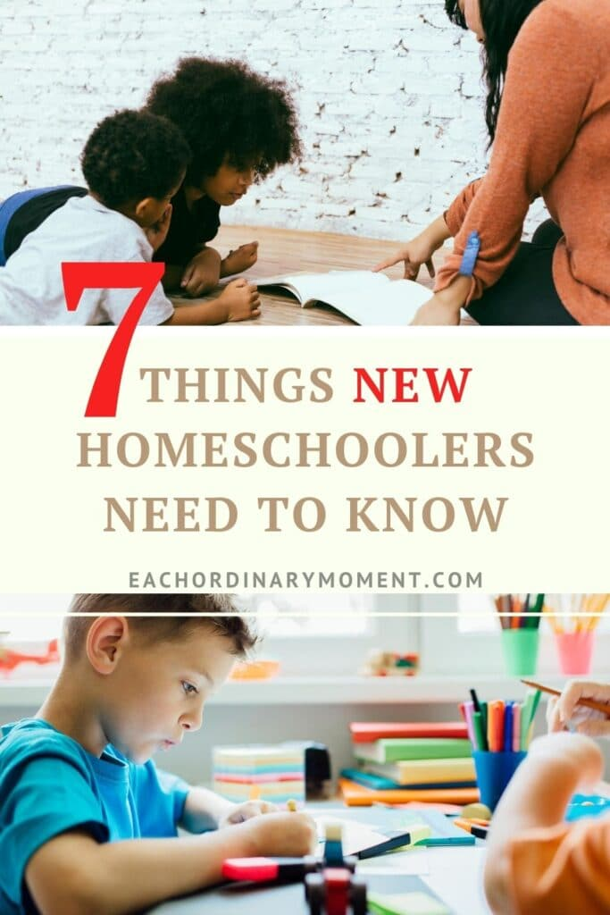 Important Things New Homeschoolers Need to Know