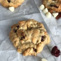 One cranberry cookie