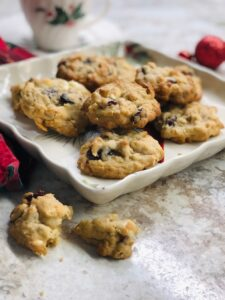 Plate of delicious cookies