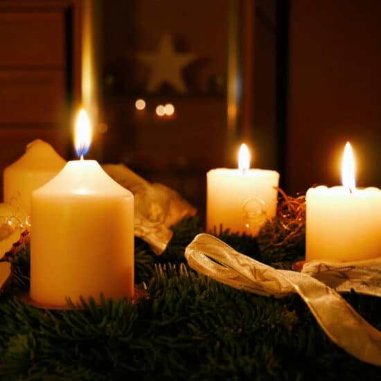 Christmas Candles remind us of God's Light