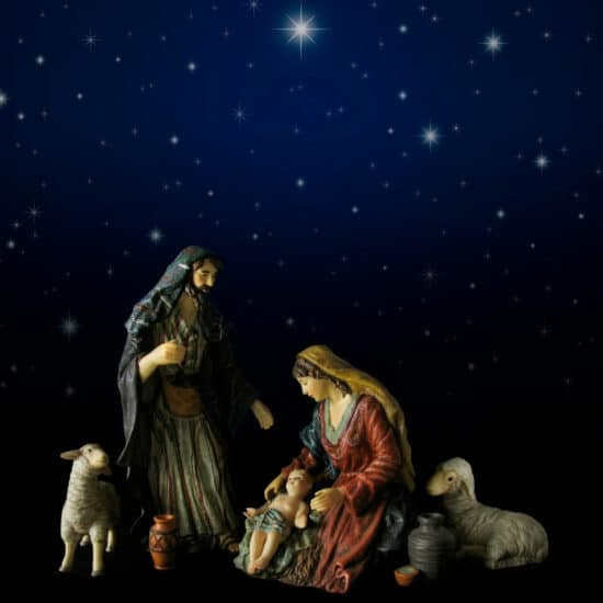 A simple nativity scene reminds us of God's promises.
