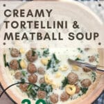 Kale, Tortellini and Meatball Soup