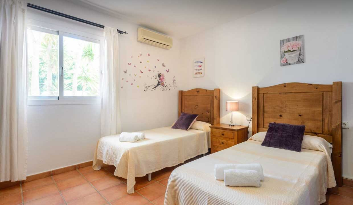 holidau homes to rent in Ibiza. bedroom white