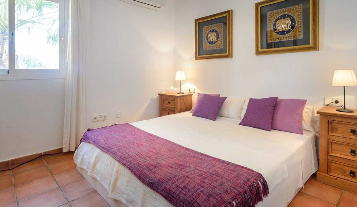 holiday homes to rent in Ibiza. master bedroom