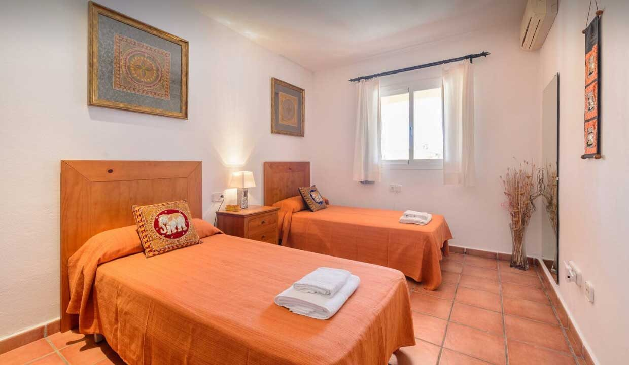 holiday homes to rent in ibiza. bedroom orange_