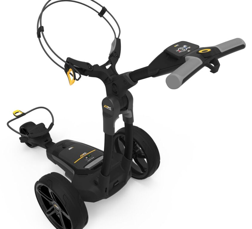 POWAKADDY FX3 BLACK ELECTRIC TROLLEY