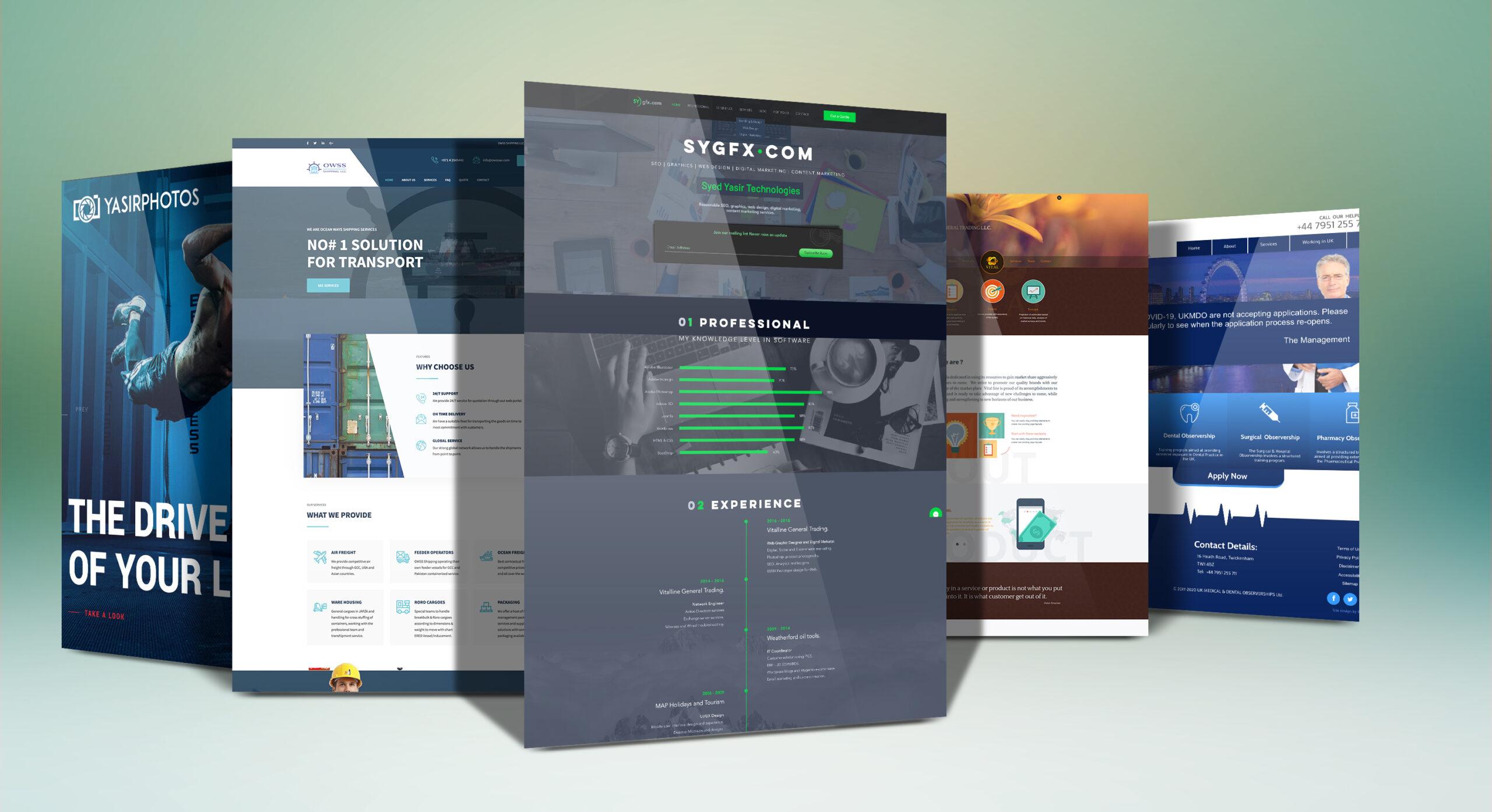 website display mockup