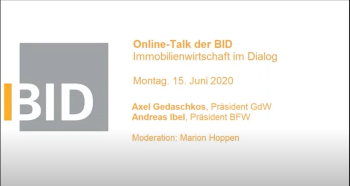 BID Talk: Immobilien- wirtschaft im Dialog