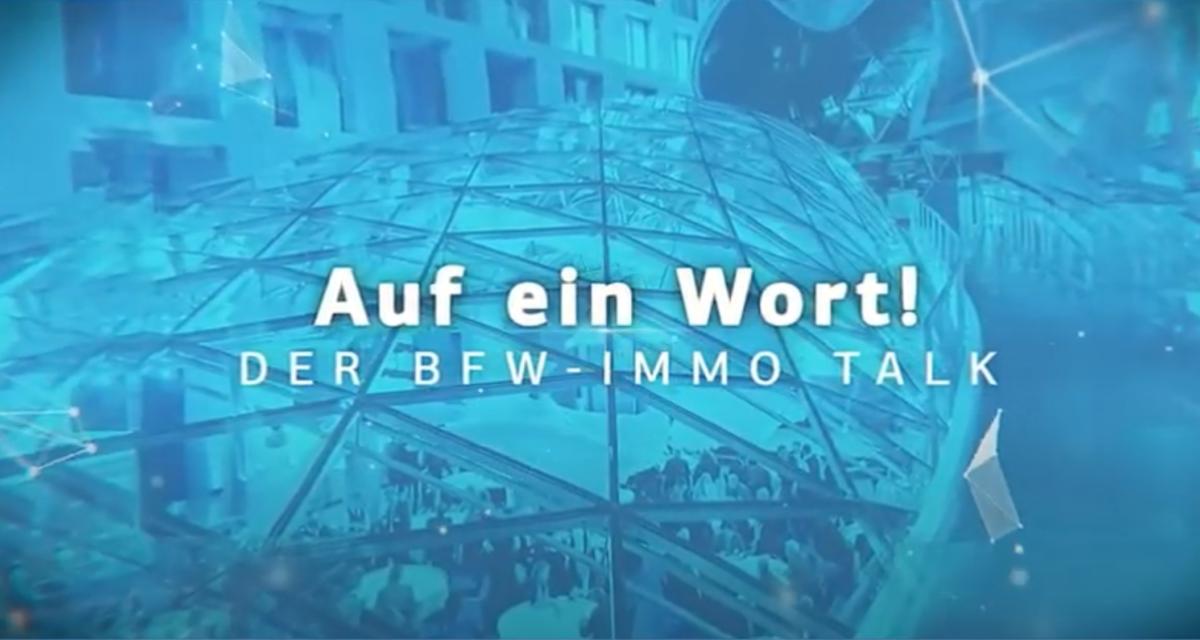 """Immo Talk, 1. Folge: """"Zwischen Corona und Mietendeckel - Immobilienwirtschaft in der Krise?"""""""