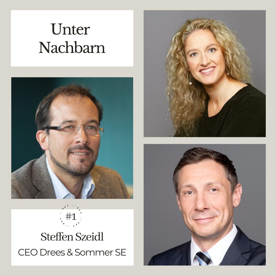 Podcast Unter Nachbarn, 1. Folge, von Heiko Senebald und Marion Hoppen mit Steffen Szeidl