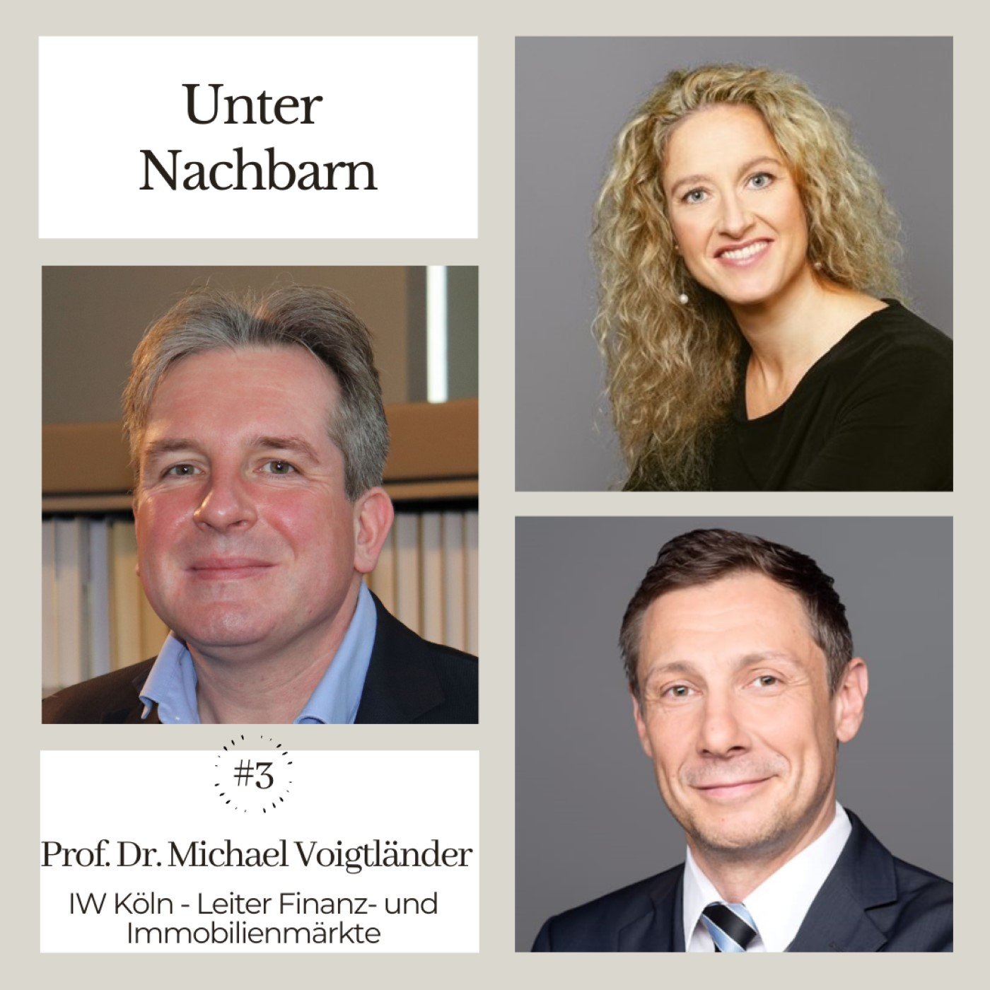 Unter Nachbarn mit Prof. Dr. Michael Voigtländer, Marion Hoppen und Heiko Senebald