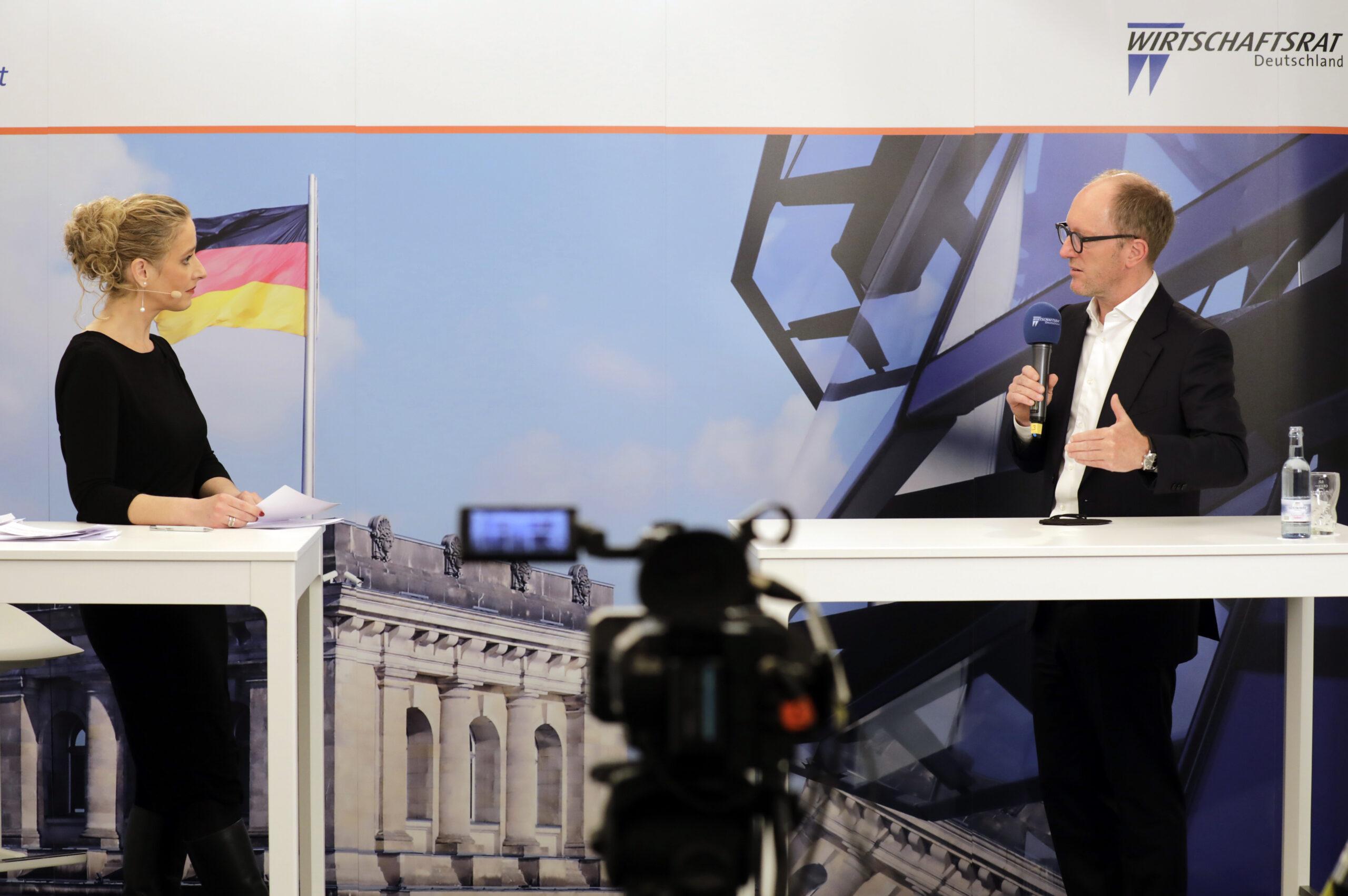 Marion Hoppen_und Michael Zahn beim Wirtschaftsrat. Foto: