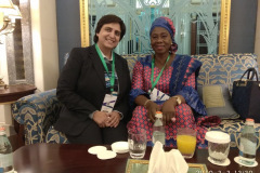 Dr.-Abha-Agrawal-with-HEalth-Minister-of-Gambia