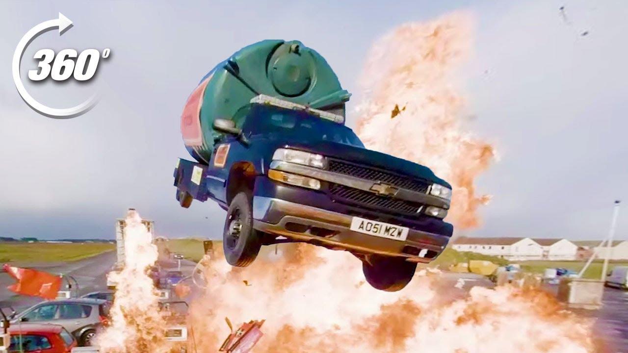 360º EXPLOSIVE Petrol Station Stunt!   Top Gear: Jumps