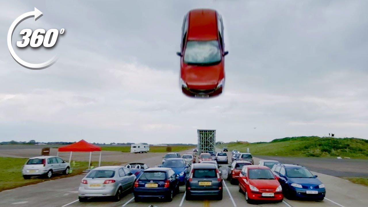 360º DISASTROUS Car Park Race!   Top Gear: Jumps