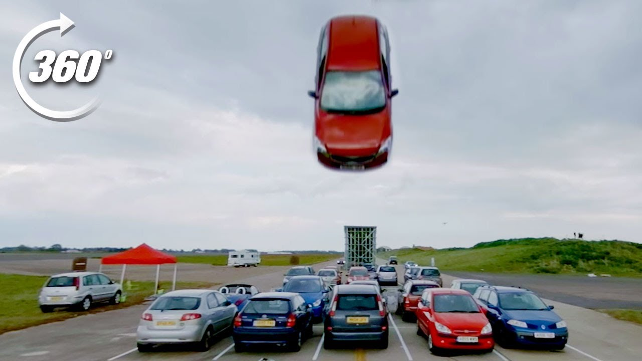 360º DISASTROUS Car Park Race! | Top Gear: Jumps