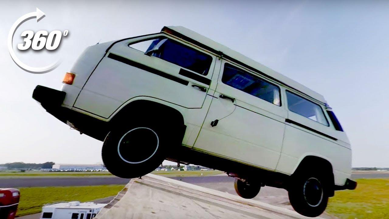 360º Festival Camper Stage Dive! | Top Gear: Jumps