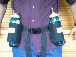 Position Water bottles for comfort and accessibility
