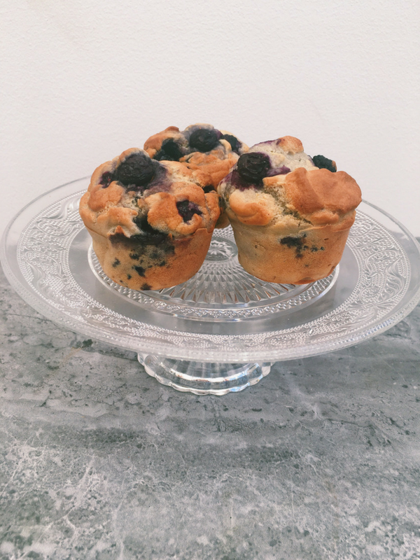 Healthy one bowl blueberry lemon muffins