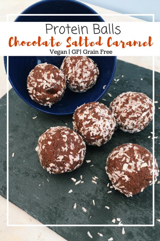 Chocolate Salted Caramel Protein Balls (GF, VG, Grain Free)