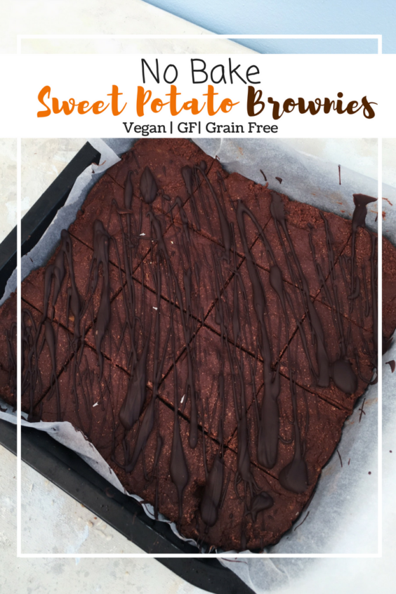 No Bake Sweet Potato Brownies (GF, VG, OF, Grain Free)