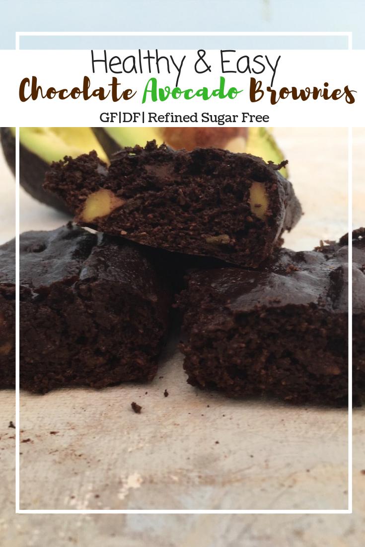 Chocolate Avocado Brownies (GF, DF, RFS)