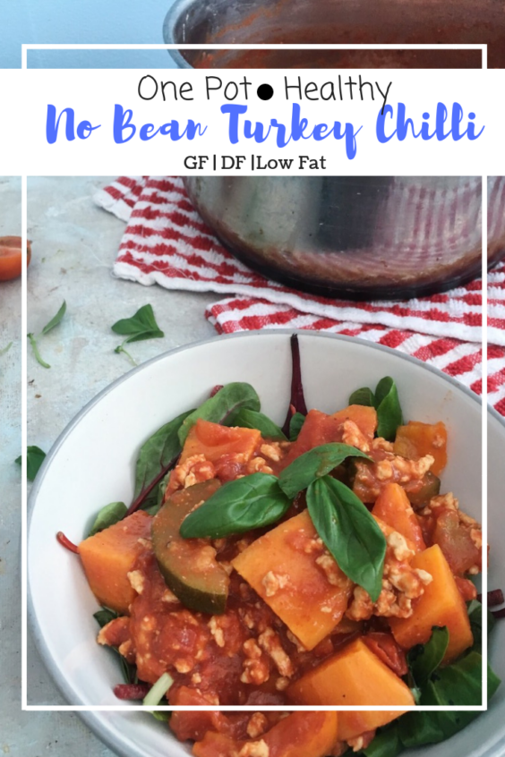 No Bean Turkey Chilli (GF, DF, Low Fat)