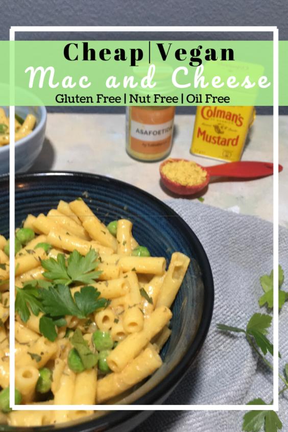 Vegan Gluten free Mac and Cheese (Nut free)