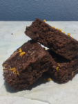 chocolate orange brownie stack