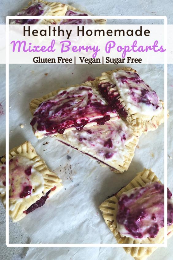 Homemade Mixed Berry Pop Tarts (GF, VG, SF)