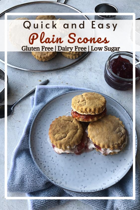 Gluten Free Plain Scones (Dairy Free)
