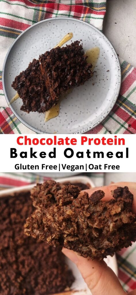 chocolate protein baked oatmeal