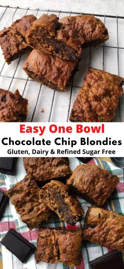easy one bowl chocolate blondies