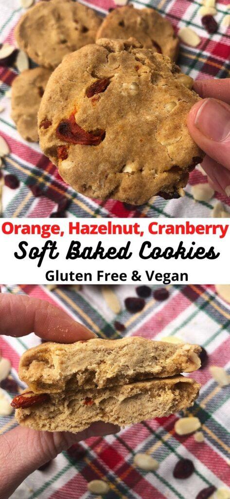 orange hazelnut cranberry cookies