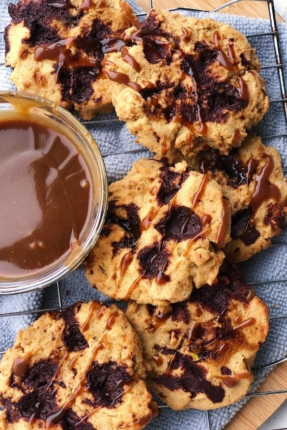 Chocolate Caramel Cookies (Gluten Free, Vegan)